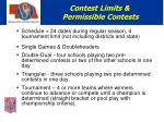 contest limits permissible contests