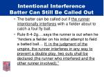 intentional interference batter can still be called out