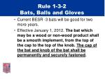 rule 1 3 2 bats balls and gloves
