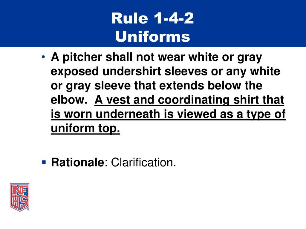 Rule 1-4-2