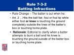 rule 7 3 2 batting infractions