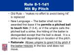 rule 8 1 1d1 hit by pitch