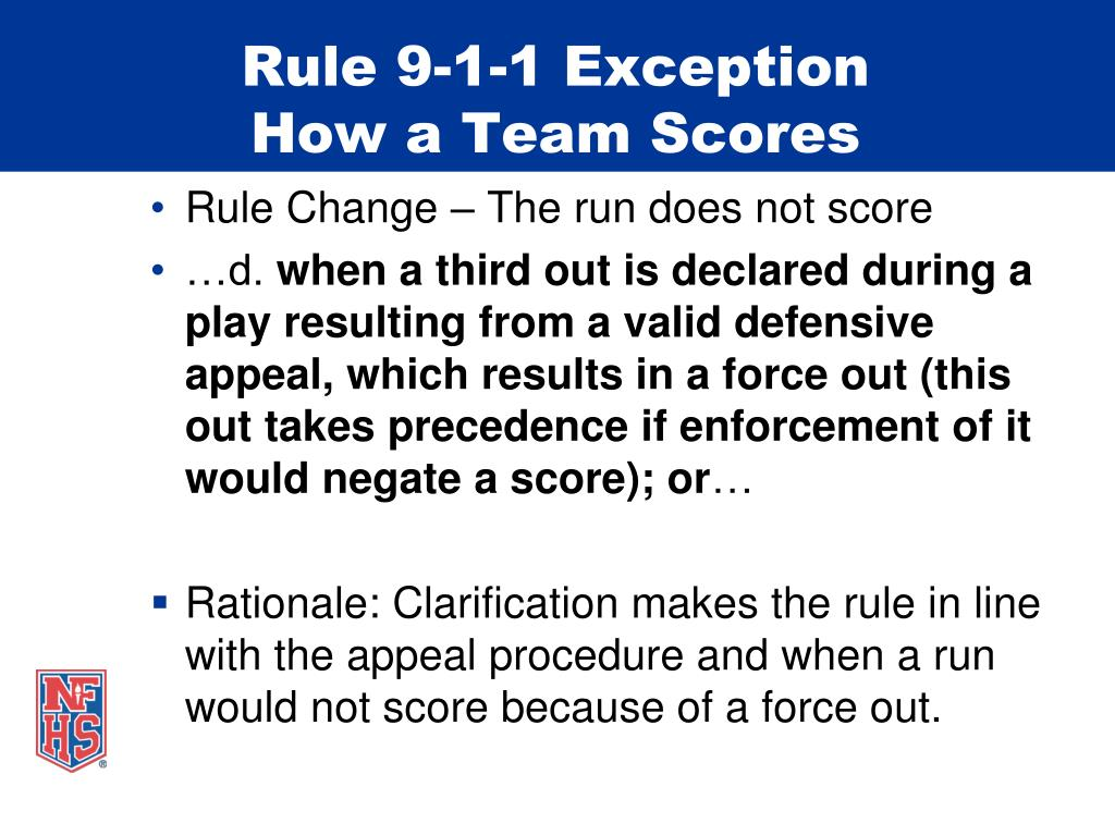 Rule 9-1-1 Exception