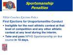 sportsmanship penalties