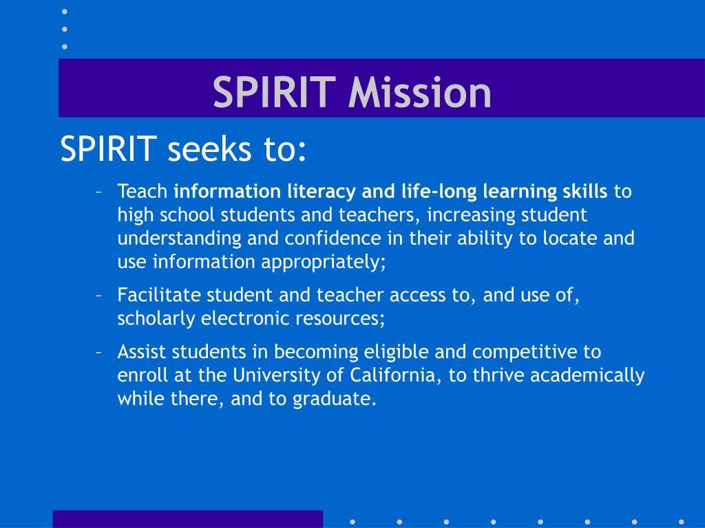 SPIRIT Mission