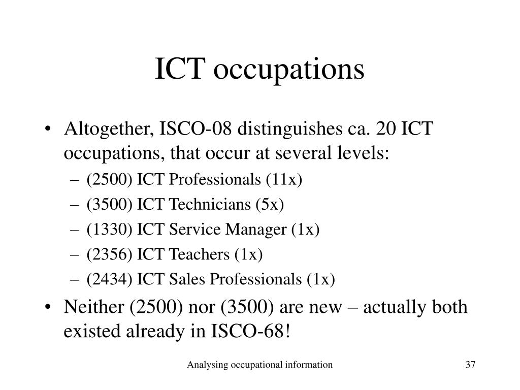 ICT occupations