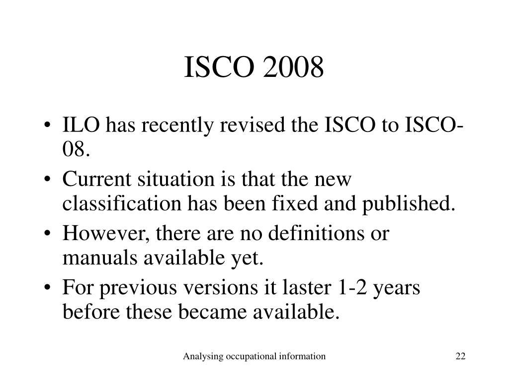 ISCO 2008