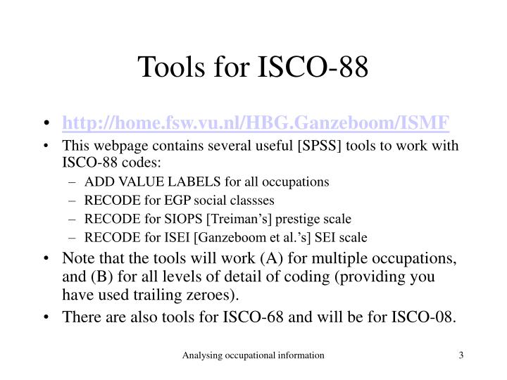Tools for isco 88