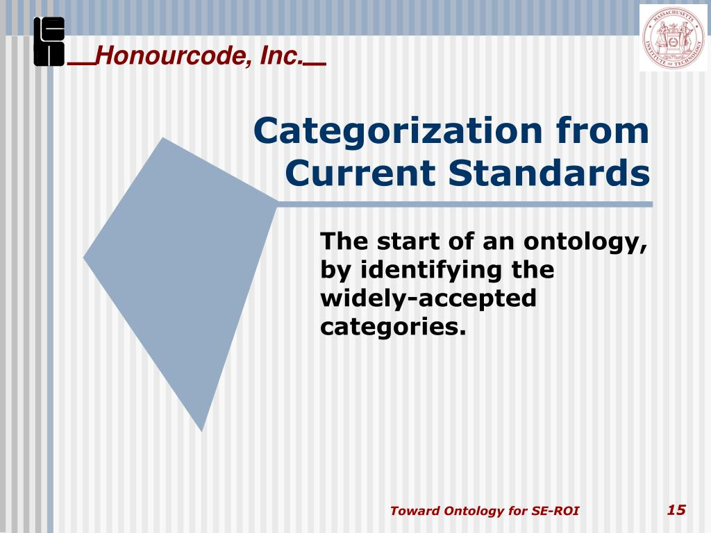 Categorization from Current Standards