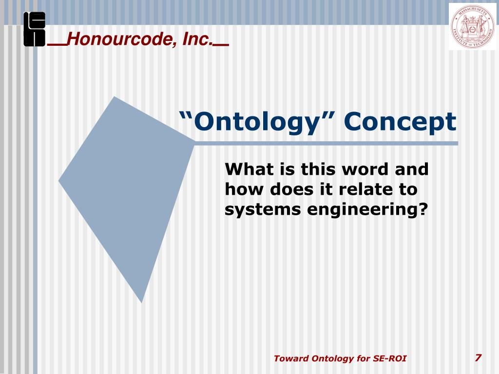 """Ontology"" Concept"