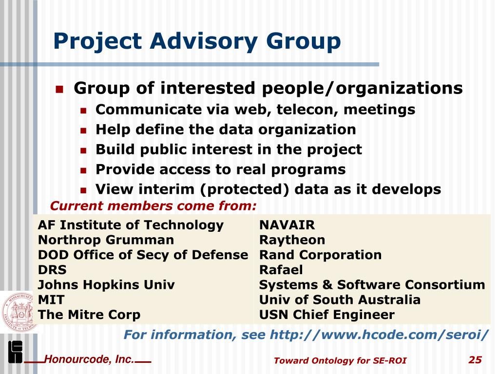 Project Advisory Group