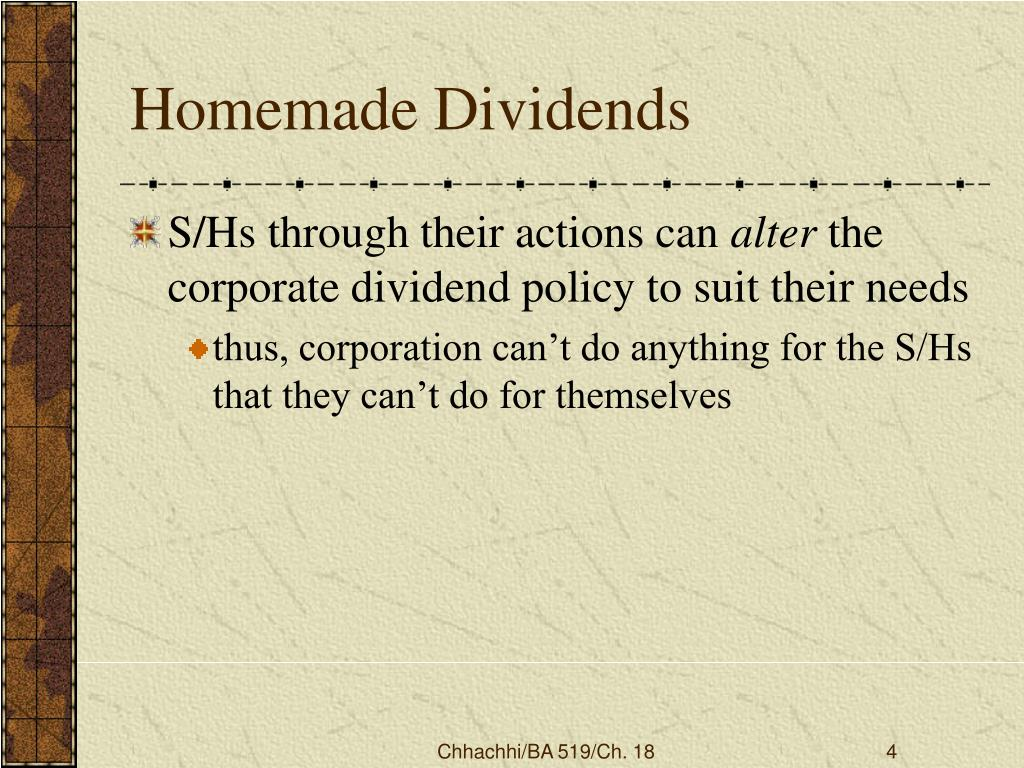 Homemade Dividends