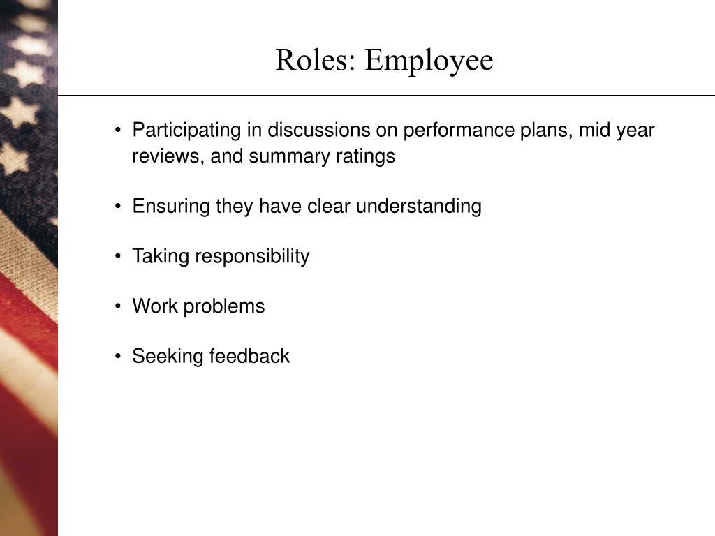 Roles: Employee
