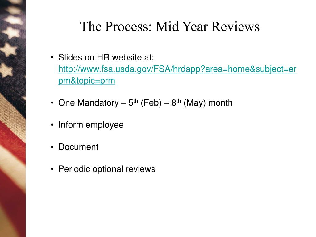 The Process: Mid Year Reviews
