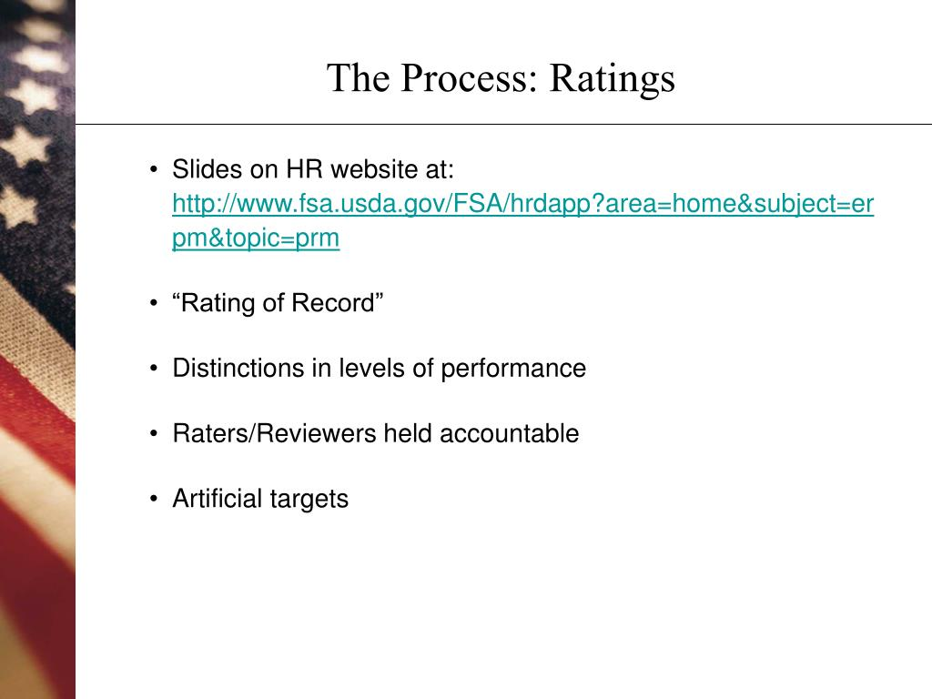 The Process: Ratings