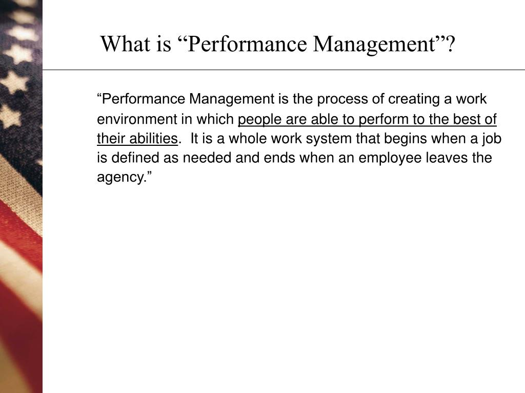 "What is ""Performance Management""?"