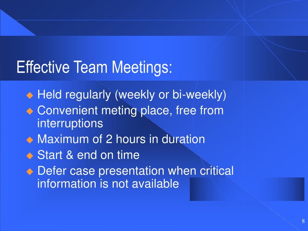 Effective Team Meetings: