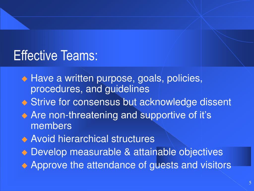Effective Teams: