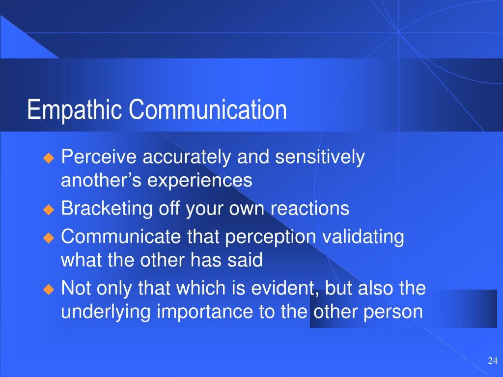 Empathic Communication