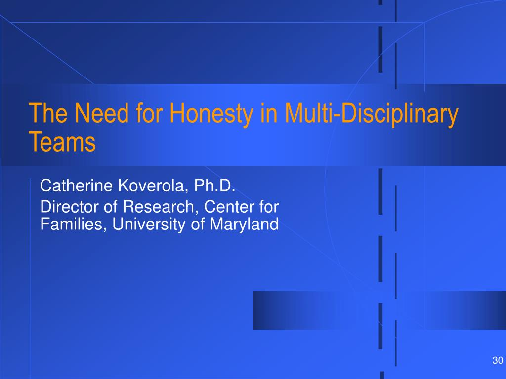 The Need for Honesty in Multi-Disciplinary Teams