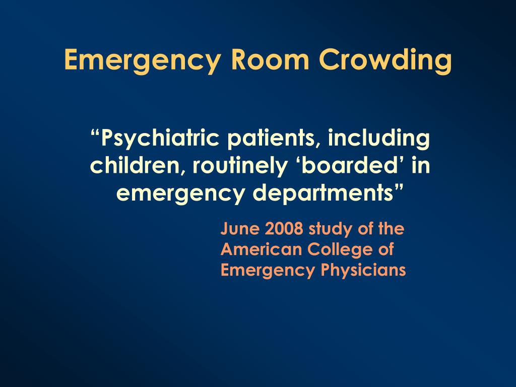 Emergency Room Crowding