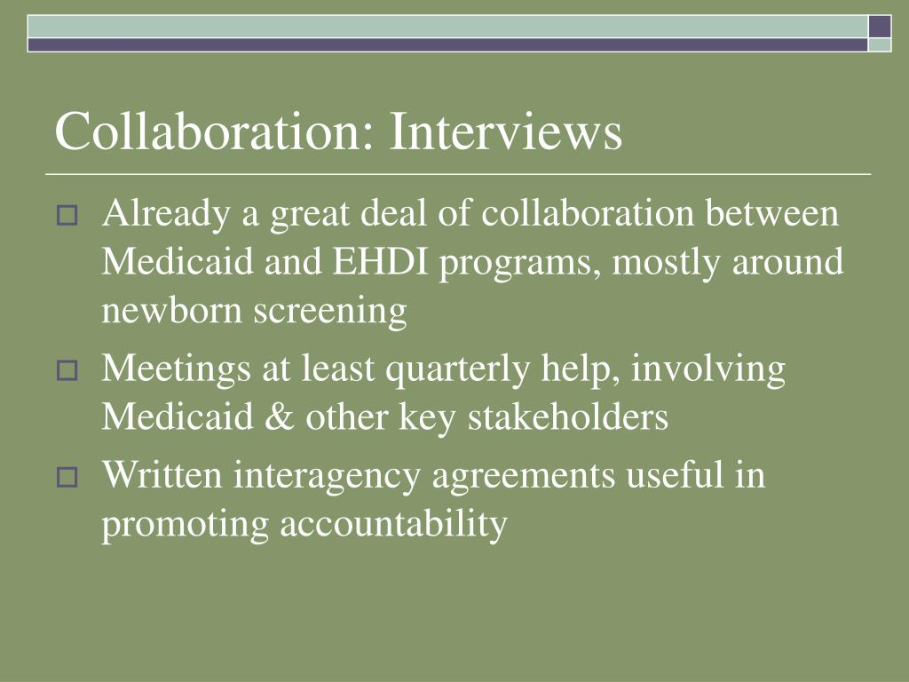 Collaboration: Interviews