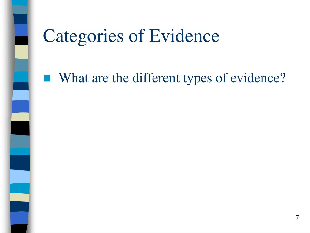 Categories of Evidence