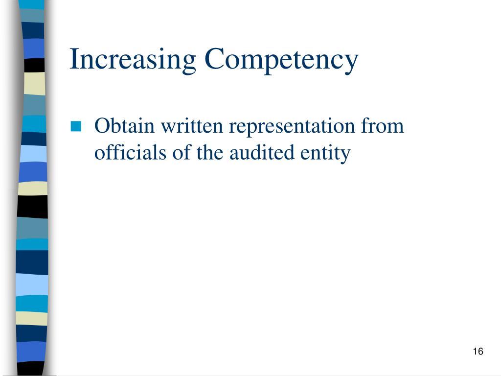 Increasing Competency