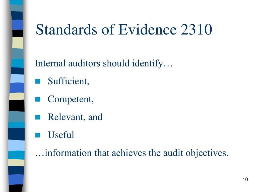 Standards of Evidence 2310