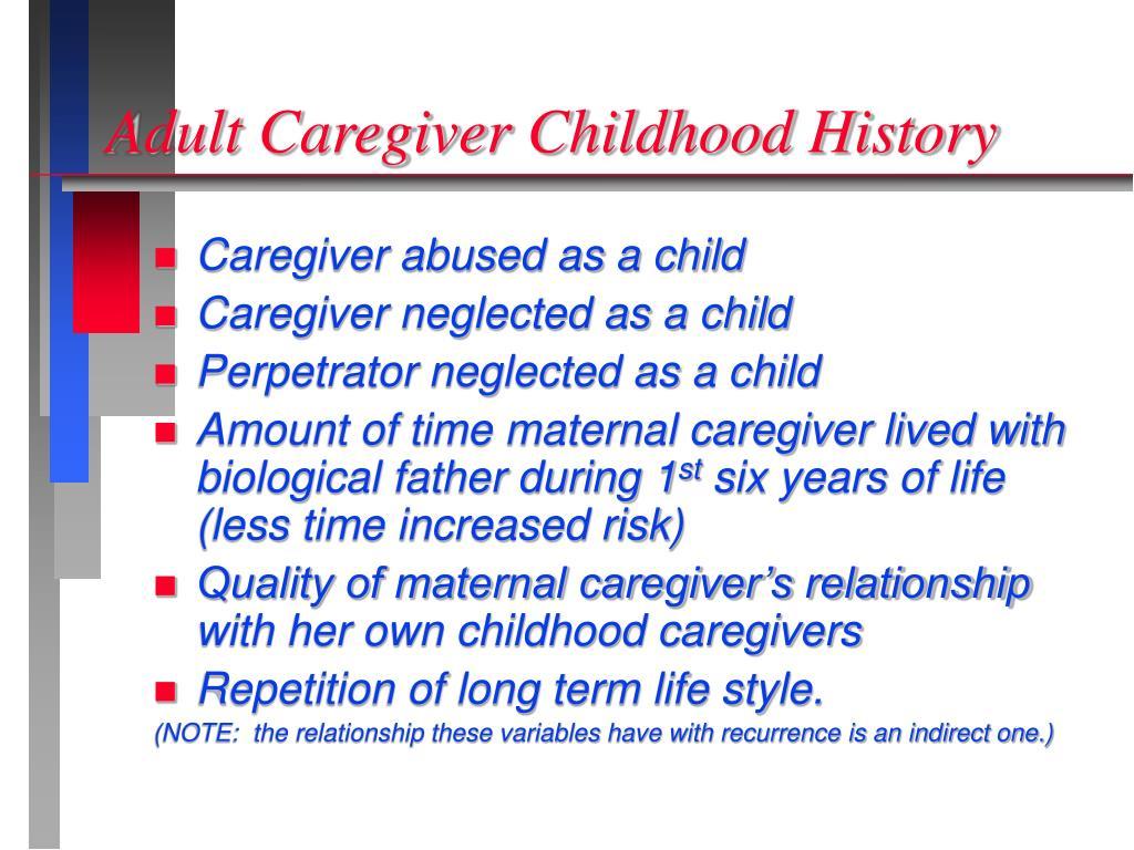 Adult Caregiver Childhood History