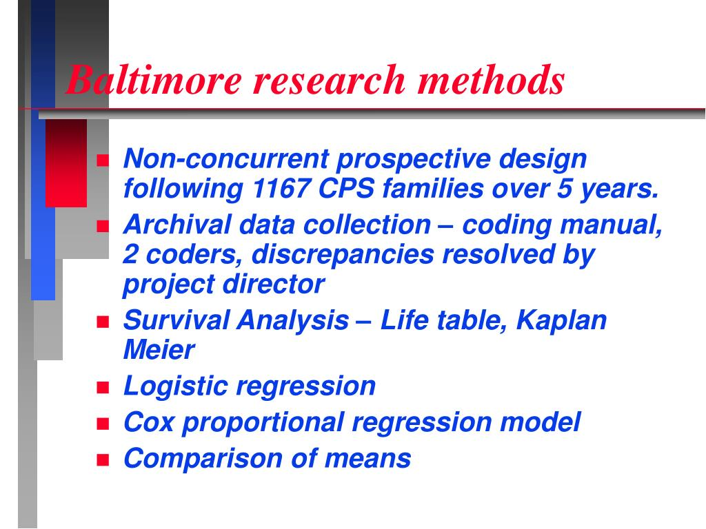 Baltimore research methods