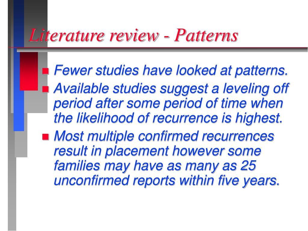 Literature review - Patterns