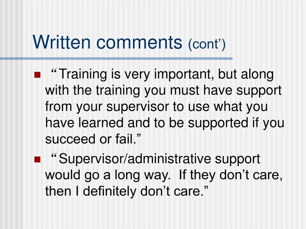Written comments