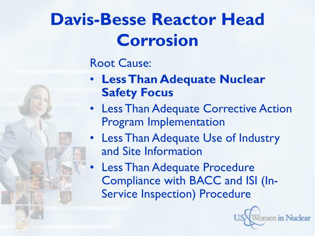 Davis-Besse Reactor Head Corrosion