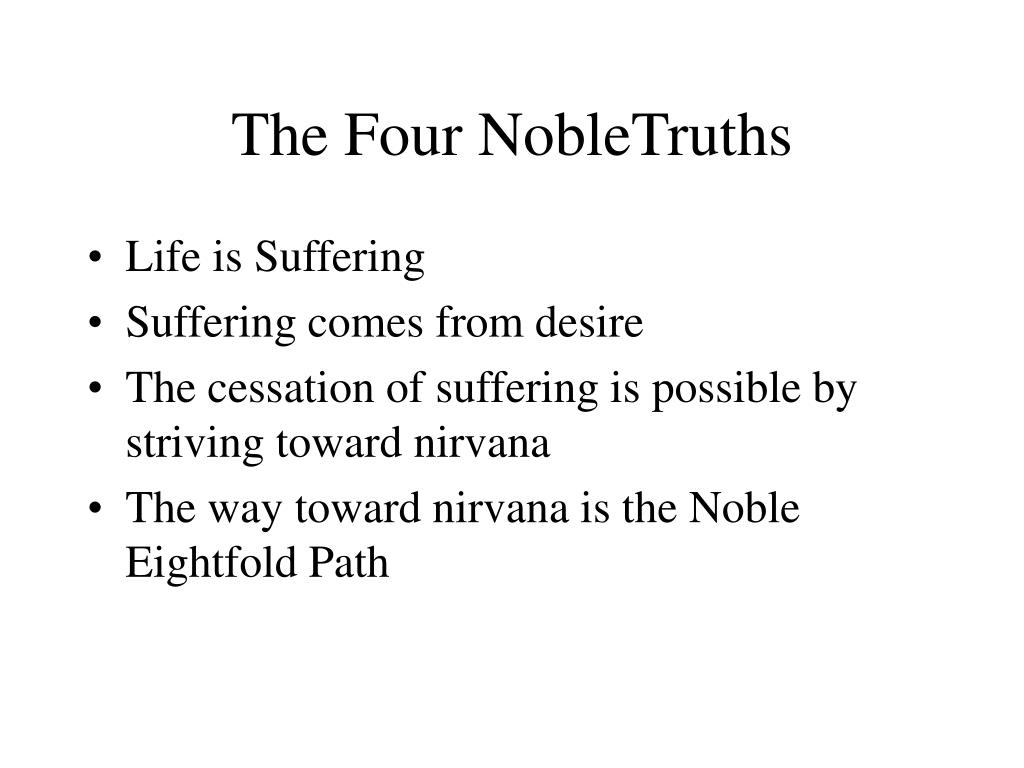 The Four NobleTruths