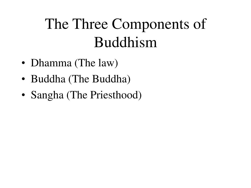 The Three Components of Buddhism
