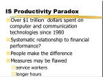is productivity paradox