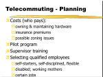 telecommuting planning