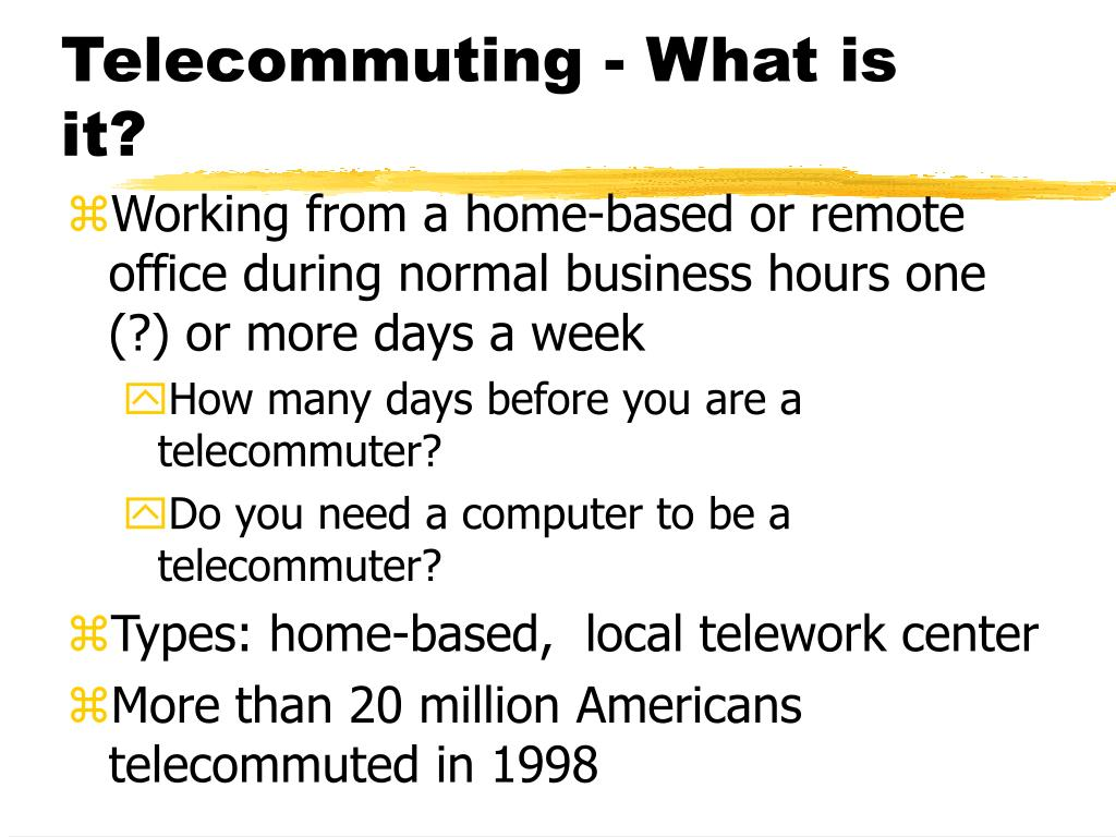 Telecommuting - What is it?