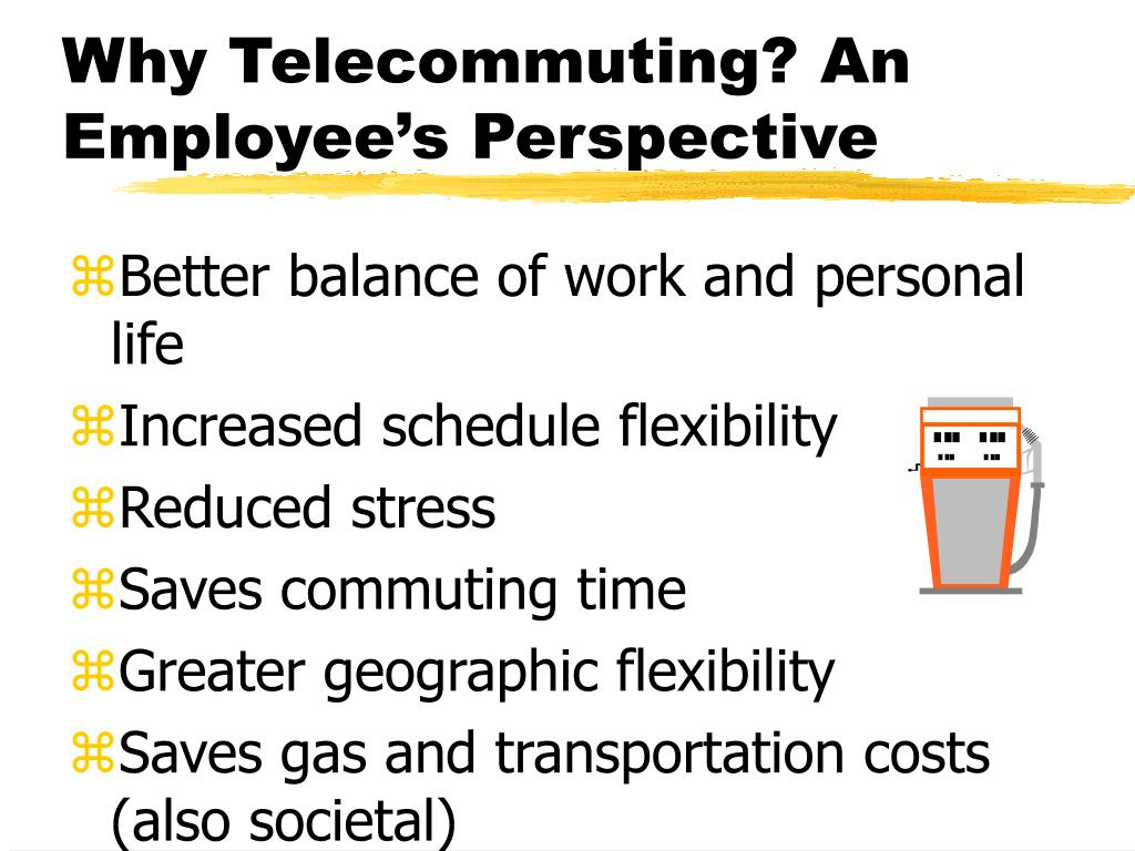 Why Telecommuting? An Employee's Perspective