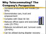 why telecommuting the company s perspective
