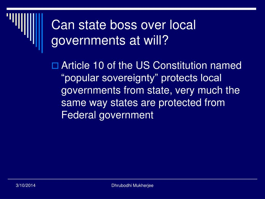 Can state boss over local governments at will?