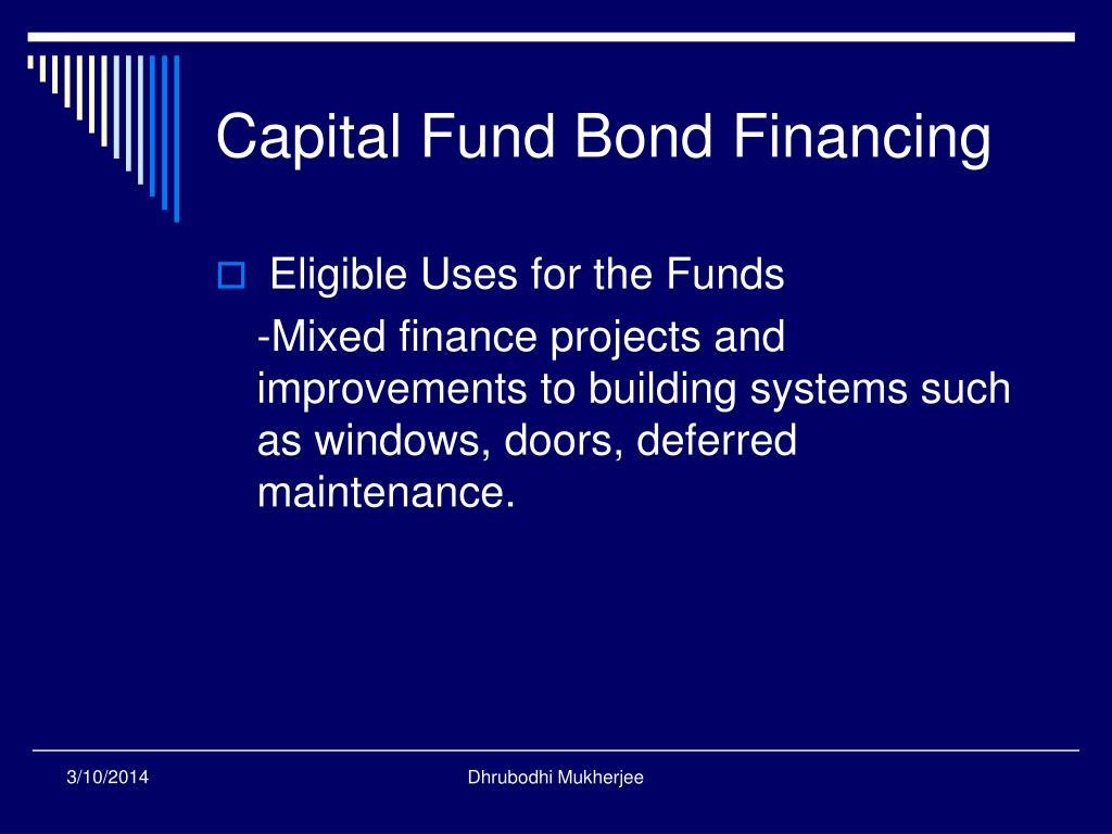 Capital Fund Bond Financing