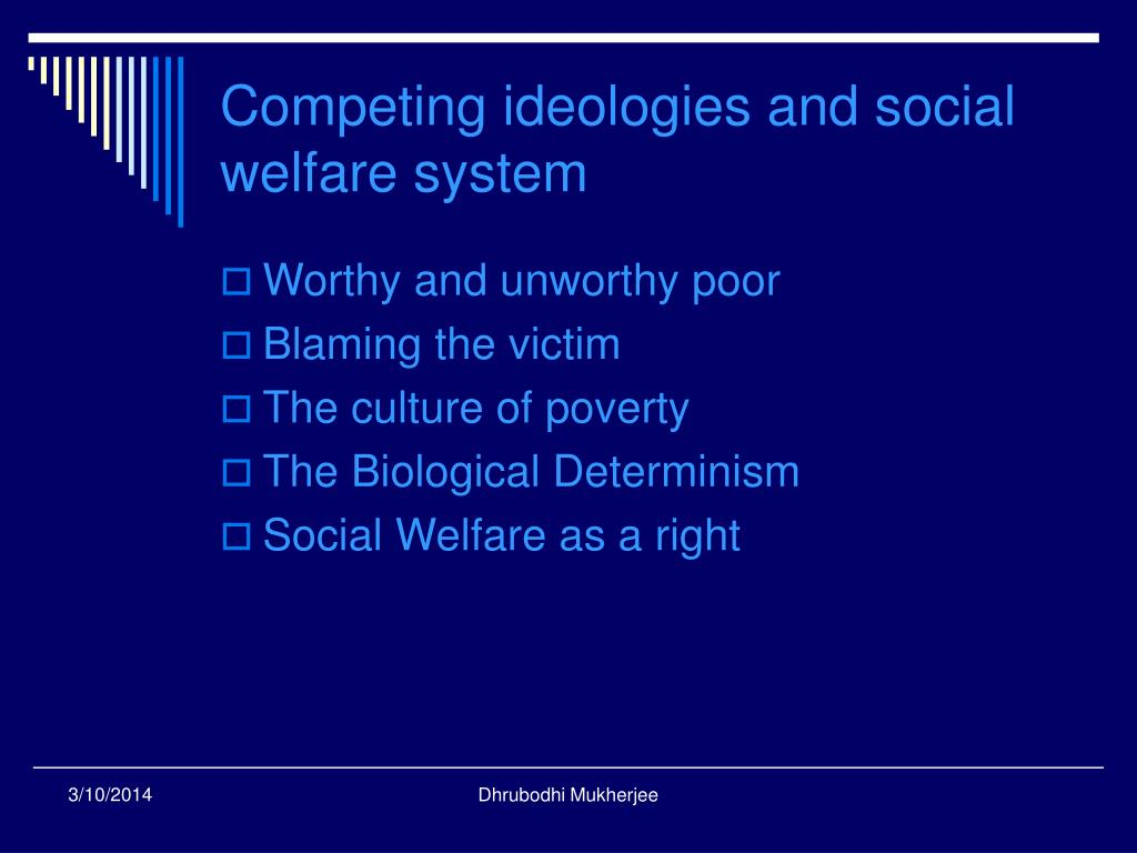 Competing ideologies and social welfare system