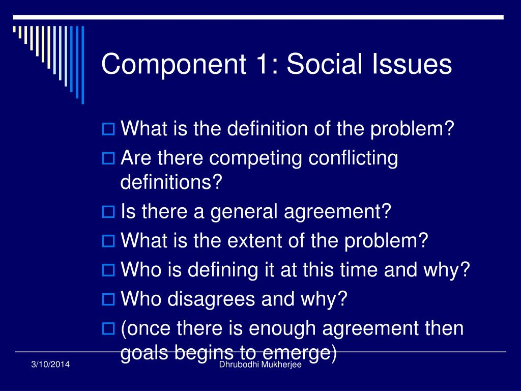 Component 1: Social Issues