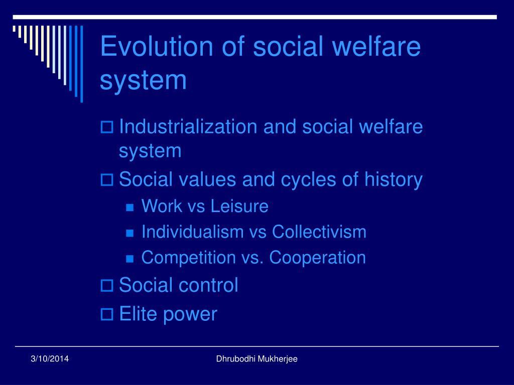 Evolution of social welfare system