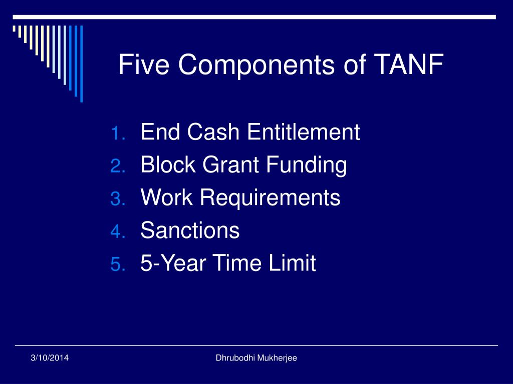Five Components of TANF