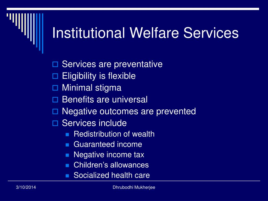 Institutional Welfare Services