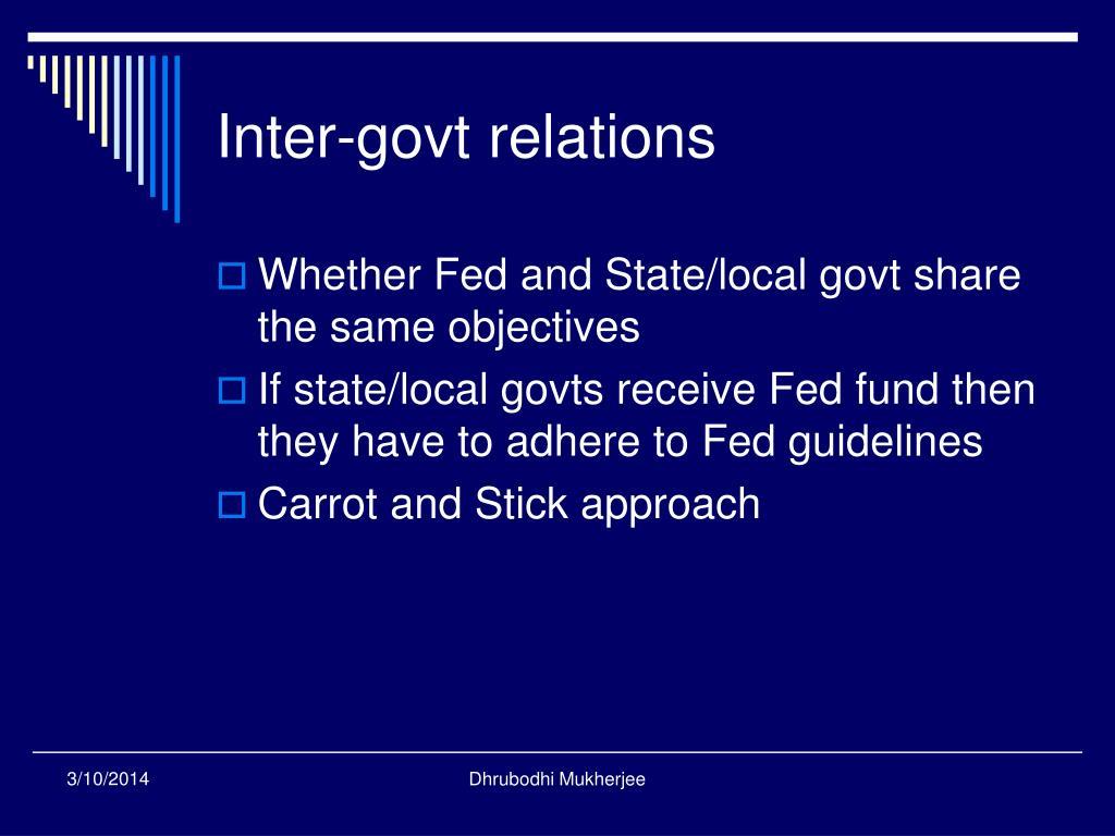 Inter-govt relations