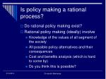 is policy making a rational process